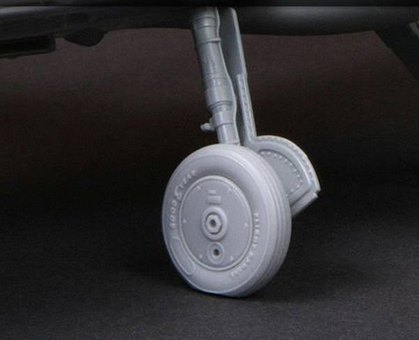 1/32 Buchon moderne propell  (Hamilton std.) og hjul